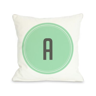 Round Monogram Pillow