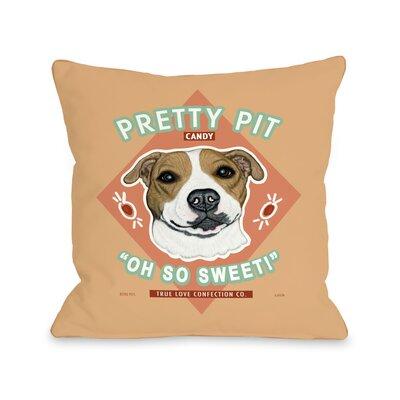 Pretty Pit Pillow Size: 16 H x 16 W x 3 D