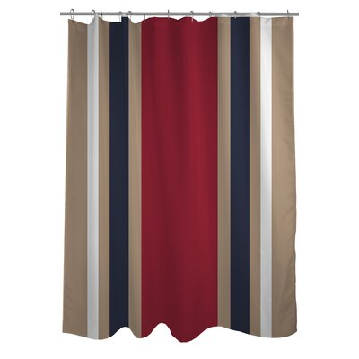 Americus Stripe Woven Polyester Shower Curtain