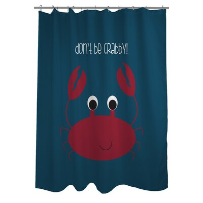 Dont Be Crabby Woven Polyester Shower Curtain