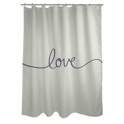Love Mix and Match Woven Polyester Shower Curtain