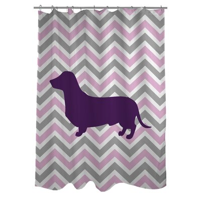 Dachshund Woven Polyester Shower Curtain