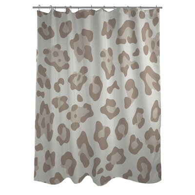 Gabriella Cheetah Woven Polyester Shower Curtain