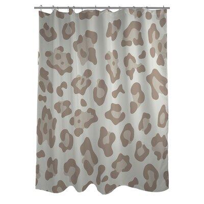 Gabriella Cheetah Woven Polyester Shower Curtain