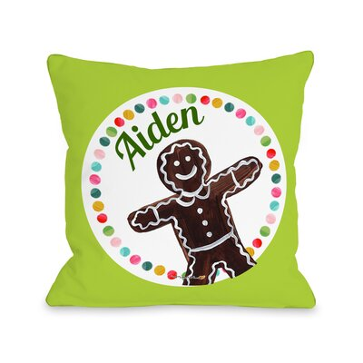 Gingerbread Personalized Throw Pillow