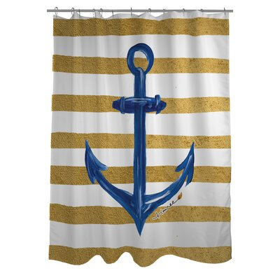 Anchor Stripes Shower Curtain