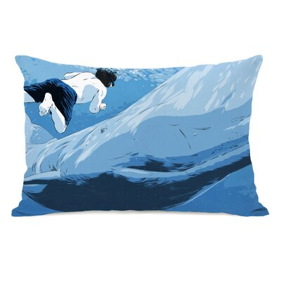 Man and Whale Lumbar Pillow
