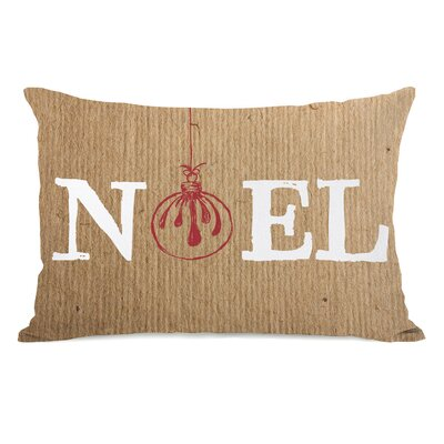 Noel Ornament Paper Lumbar Pillow