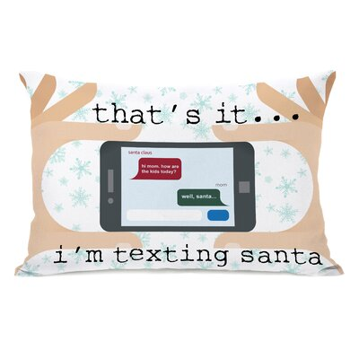 Texting Santa Lumbar Pillow