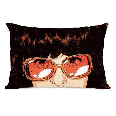 Girl with Glasses Lumbar Pillow