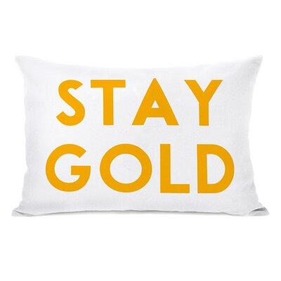 Stay Text Lumbar Pillow