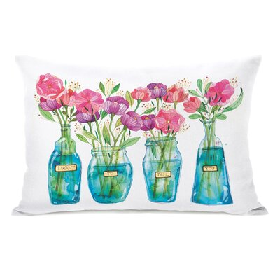 I Want to Tell You Flower Vases Throw Pillow