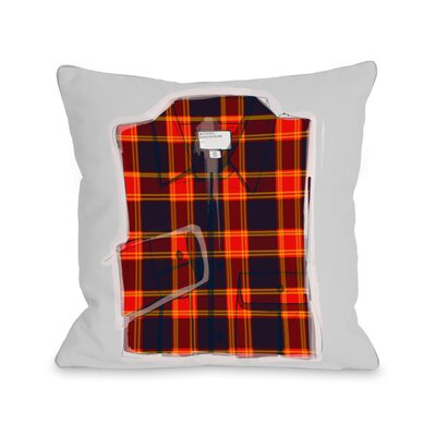 Plaid Shirt Throw Pillow Size: 16 H x 16 W x 3 D