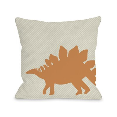 Steogsaurus Stripe Throw Pillow Size: 18 H x 18 W x 3 D