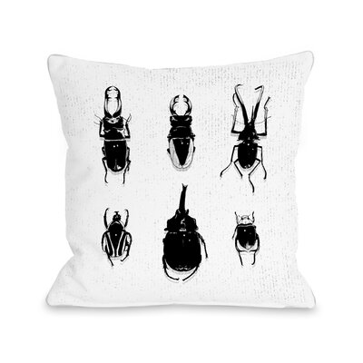 Beetles Throw Pillow Size: 20 H x 20 W x 4 D
