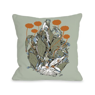 Crab Clusters Throw Pillow Size: 18 H x 18 W x 3 D