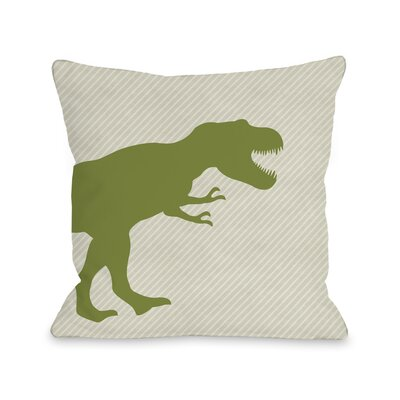 T Rex Stripe Throw Pillow Size: 18 H x 18 W x 3 D
