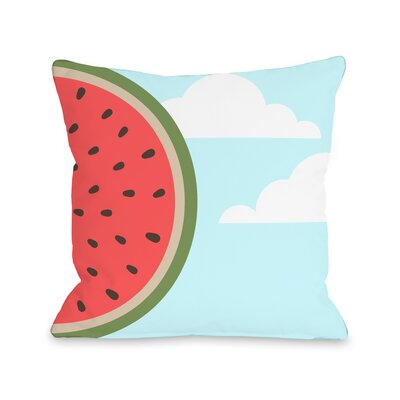 Sky Melon Throw Pillow Size: 18 H x 18 W x 3 D