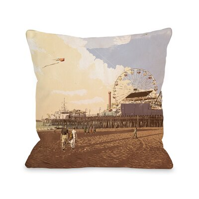 Boardwalk Throw Pillow Size: 18 H x 18 W x 3 D