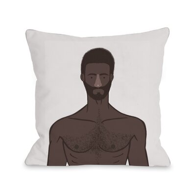 Shirtless 2 Throw Pillow Size: 18 H x 18 W x 3 D