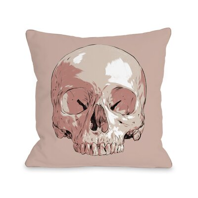 Skull Throw Pillow Size: 16 H x 16 W x 3 D