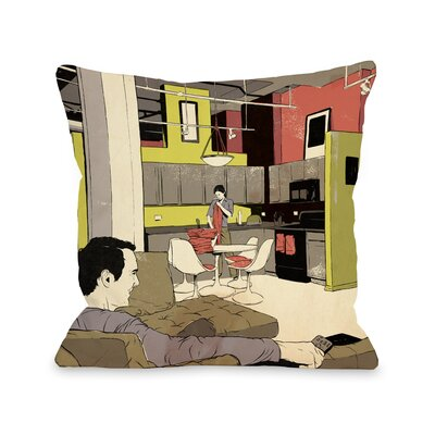 Routine Throw Pillow Size: 16 H x 16 W x 3 D