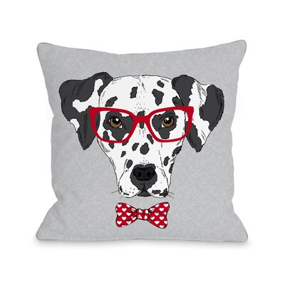 Hipster Dalmatian Throw Pillow Size: 16 H x 16 W x 3 D