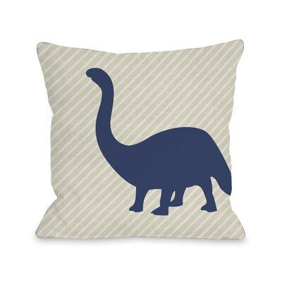 Brontosaurus Stripe Throw Pillow Size: 16 H x 16 W x 3 D