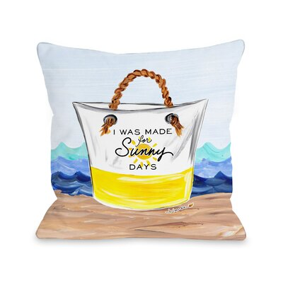 Sunny Days Throw Pillow Size: 16 H x 16 W x 3 D