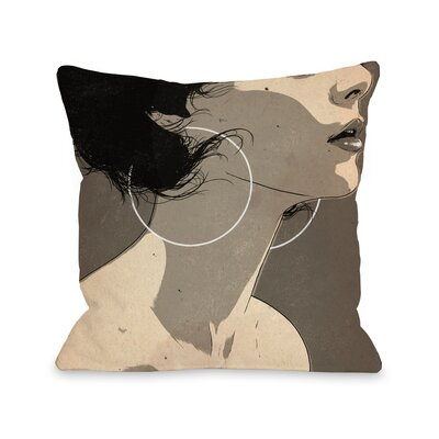 Hoop Earrings Throw Pillow Size: 16 H x 16 W x 3 D