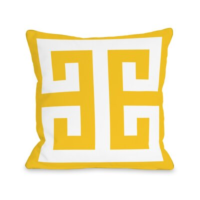 Grecian Throw Pillow Size: 18 H x 18 W x 3 D