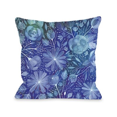 Electric Flowers Throw Pillow Size: 18 H x 18 W x 3 D