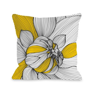 Mums Throw Pillow Size: 16 H x 16 W x 3 D
