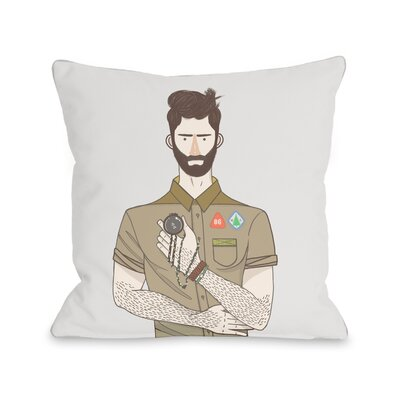 Boyscout Throw Pillow Size: 16 H x 16 W x 3 D