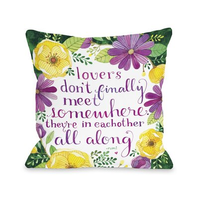 Lovers Meet Florals Throw Pillow Size: 16 H x 16 W x 3 D