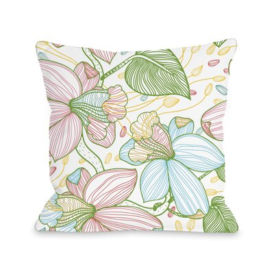 Floral Playhouse Throw Pillow Size: 16 H x 16 W x 3 D