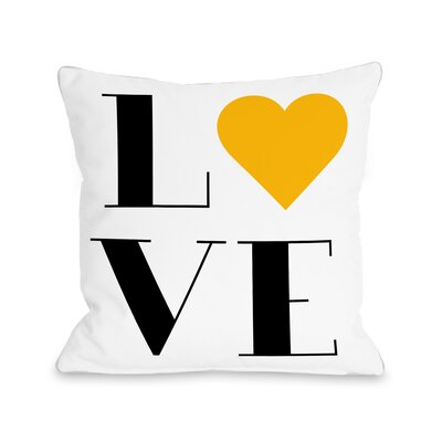 Love Heart Throw Pillow Size: 16 H x 16 W x 3 D