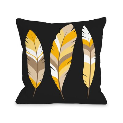 Feathers Throw Pillow Size: 16 H x 16 W x 3 D