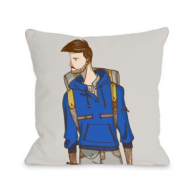 Hiker Throw Pillow Size: 16 H x 16 W x 3 D