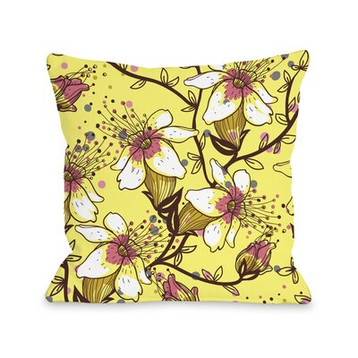 Lovelilies Throw Pillow Size: 16 H x 16 W x 3 D