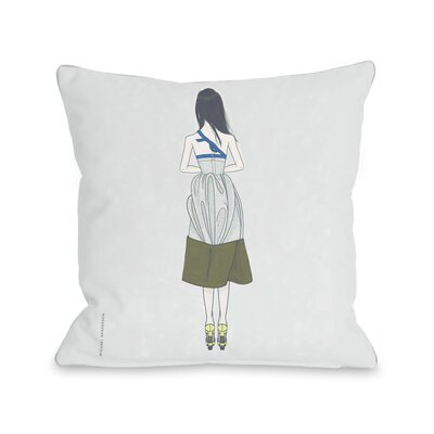 Facing Away Throw Pillow Size: 16 H x 16 W x 3 D