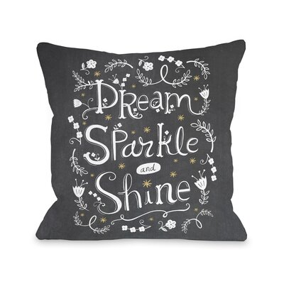 Sparkle Shine Throw Pillow Size: 16 H x 16 W x 3 D