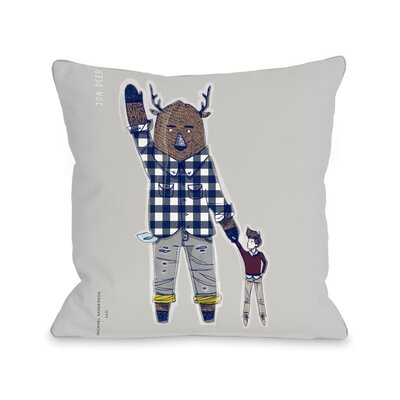 Jon Deer Throw Pillow Size: 18