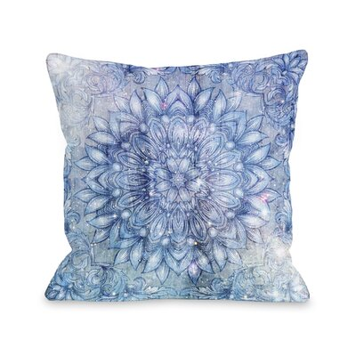 Galactic Flower Throw Pillow Size: 16