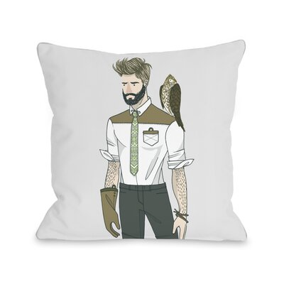 Hawk Trainer Throw Pillow Size: 18 H x 18 W x 3 D