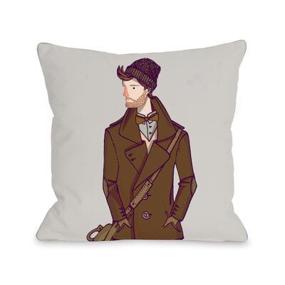 Buttoned Coat Throw Pillow Size: 16 H x 16 W x 3 D