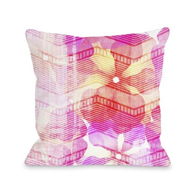 Senny Flowers Throw Pillow Size: 16 H x 16 W x 3 D