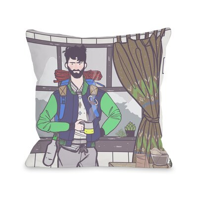 Morning Coffee Throw Pillow Size: 18 H x 18 W x 3 D
