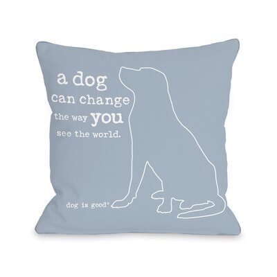 Change the Way Throw Pillow Size: 16 H x 16 W x 3 D