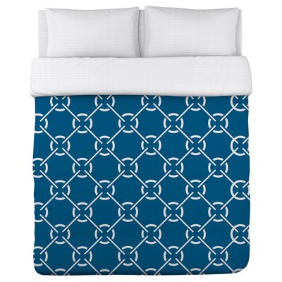 Ceciles Circles Mykonos Duvet Cover Size: Full Queen